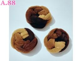 Kuncir Lilit Coklat /lusin  (A-9448)